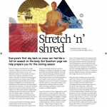 Cooler Magazine issue 27 - Stretch'n'Shred - Yoga for Wintersports