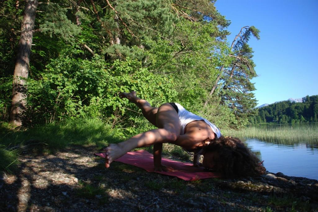 Eka Pada Koundinyasana 2 Yoga Pose Armbalance Staffelsee Bavaria