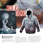 Onboard European Snowboard Magazine Issue 123 - Art Page - French Artist Nicolas Thomas for Billabong Outerwear