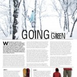 Onboard European Snowboard Magazine Issue 123 - Going Green Article on Eco Friendly Snowboard Products