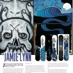 Onboard European Snowboard Magazine Issue 125 - Art Page - Lib Tech Snowboards Jamie Lynn