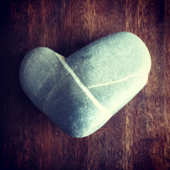 Valentine's Day Love & Hate - snowboarding on valentine's day - mountain love - heart shaped stone pebble