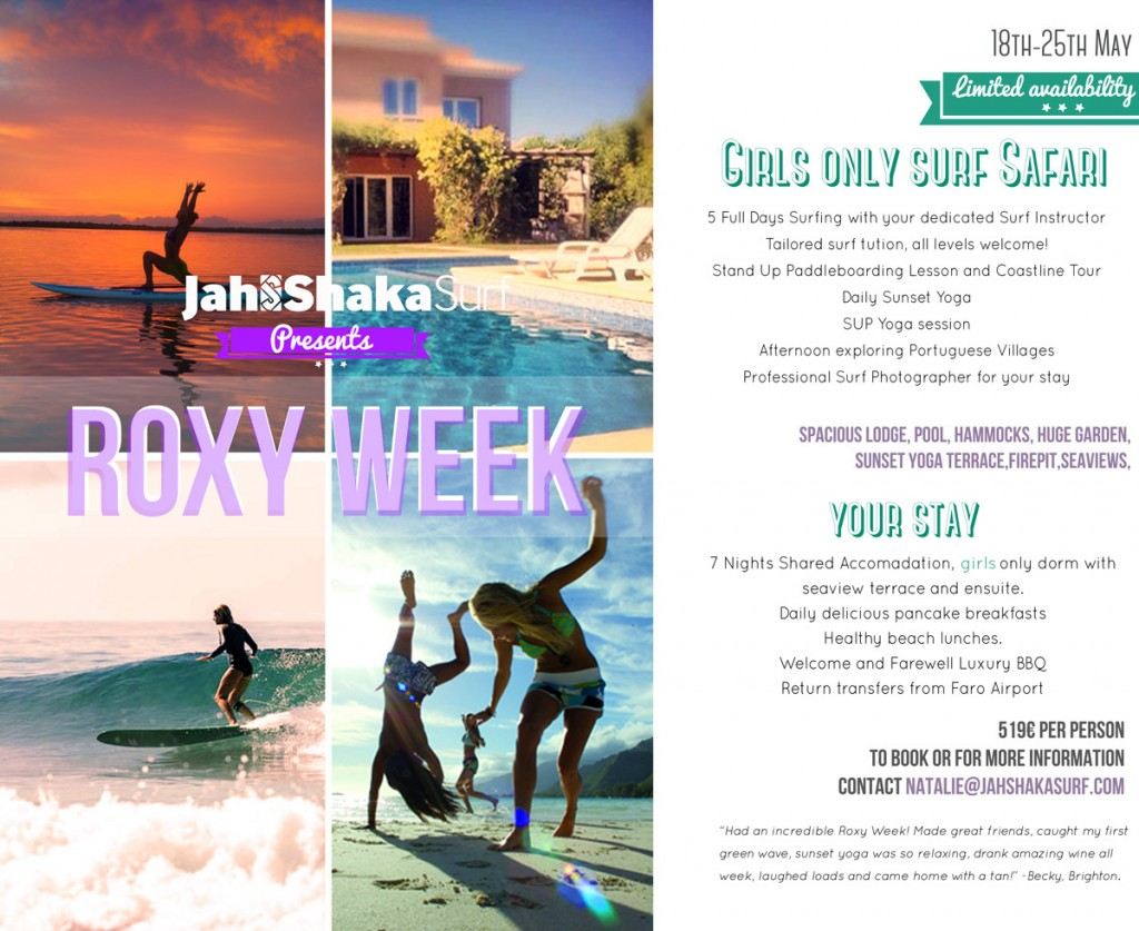 Mission: Back to Water - Roxy Girls Week at Jah Shaka Surf Camp in Portugal