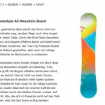 Voelkl Snowboards - Copy Writing
