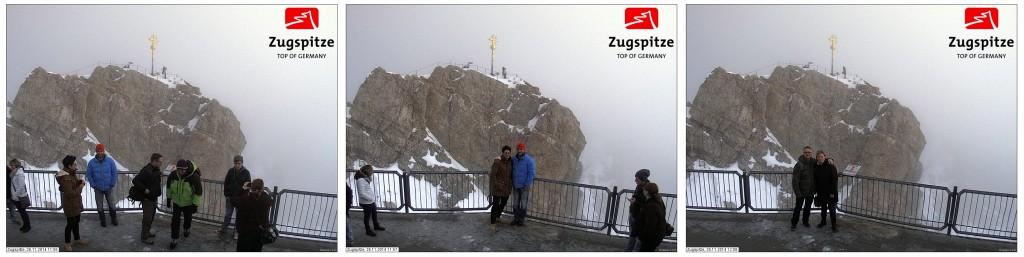 Yoga on the Peak of Zugspitze - Yoga auf dem Gipfel der Zugspitze - Photobombing Tourists - selfies