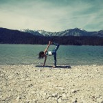 Surf Yoga Sequence – Standing Bow Pose – photo: Conny Marshaus