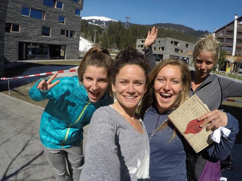 Kaya Turski, Jamie Anderson + Hannah Teter in Laax