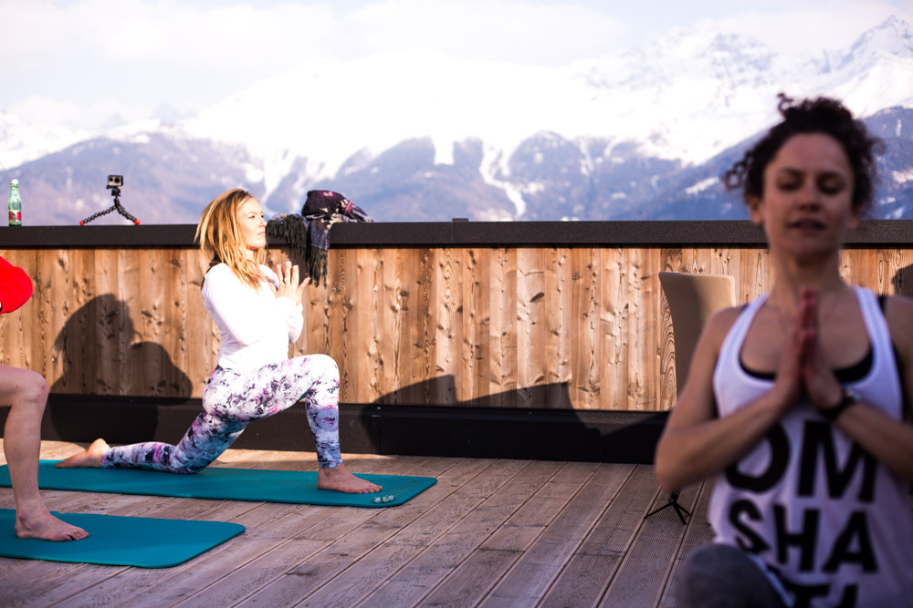 Apres Ski Yoga at Nine Queens with Jamie Anderson & Anna Kathalina Langer