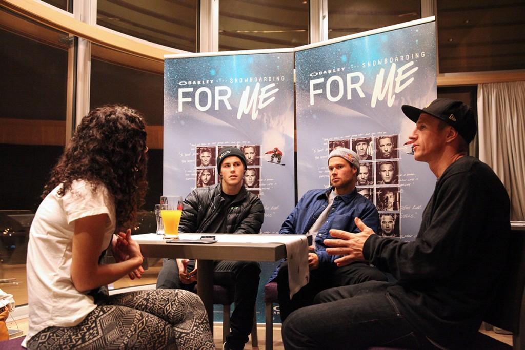 Oakley_SnowboardingForMe_MoviePremiere_Innsbruck_Interview_Stale_Eero_Terje
