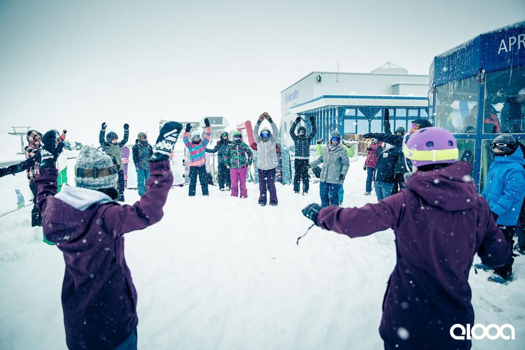 Snowboard Yoga, Shred Yoga, Wintersport Yoga, Yoga Snowboard Camp, Anna Kathalina Langer