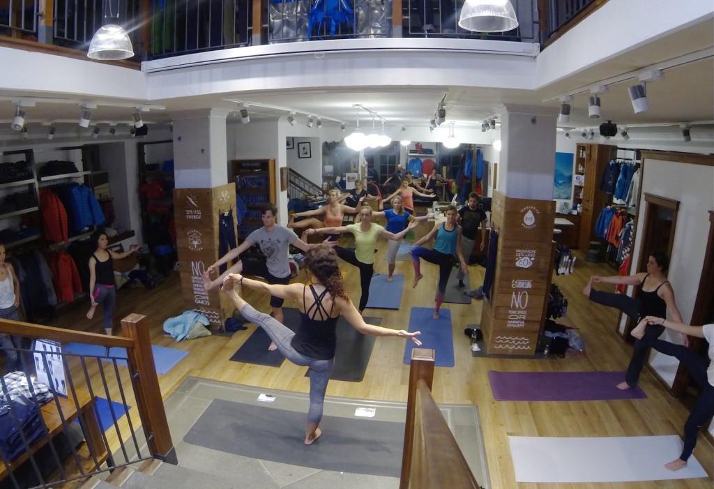 Kostenlose Yogastunde bei Patagonia München
