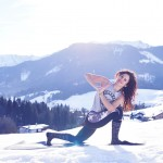 Parivrtta Parsvakonasana Variation – Achensee, Tyrol – photo: Conny Marshaus